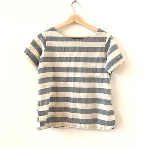 Japna blue and white striped top